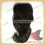 hot selling free parting swiss top lace closure 100% human hair closure 3.5x4 virgin brazilian straight silk closure