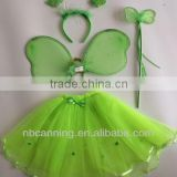 wholesale Fairy Wings/ Baby Girl Angle Wings / cute butterfly wing costume green