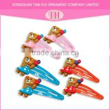 Design your own resin large metal multi-color bears children hair clip accessories