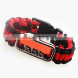 New Trendy Handmade Outdoor Jewelry Multi 550 Survival Paracord Bracelet with Stainless Steel Buckle