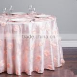 sequin shiny with flower style table cloth/Curly pattern rosette embroidery sequin table cloth