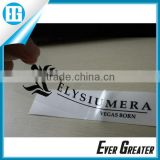 Custom clear vinyl sticker, transparent stickers DIE CUT WINDOW STICKER custom die cut pvc sticker