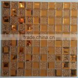 Interior 5mm thickness brown color glass house mosaic mirror tile