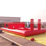 Huge size top quality funny red color outdoor inflatable adult sports equipment inflatable games
