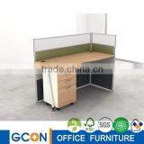 translucent glass screen wall partition workstation/metal frame workstation for single seat