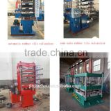 Waste tyre rubber powder vulcanizing machine / flooring tiles making machine / rubber floor sheet molding press