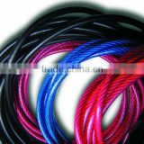 PVC Coated Steel Wire Rope Plastic Costed Galvanized Steel Wire Rope Steel Cable 1x7,7x7,7x19,7x37 rope