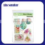 Magnetic custom sticker creative adhesive cork sticker for scrapbook