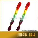 "43 Colors 1pieces 24"" 100g/pc Synthetic High Quality Jumbo Braid Ombre Braiding Hair Extension"