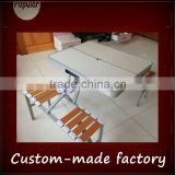 4 person outdoor folding table and stool / handing folding table and stool