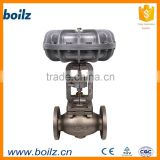 Pneumatic actuator forged steel globe valve control
