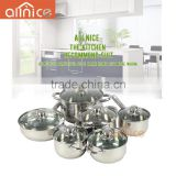 SS201 induction cheap price cooking pot wholesale stainless steel 12 pcs cookware set
