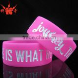 Promotion debossed baseball silicone bracelets for sport