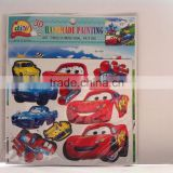 cars shaped kids 3d handmade sticker,room decor 3d handmade sticker,DIY product handmade sticker