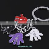 Wholesale Unique Colorful Palm Shape Zinc Alloy Keychain With Crystal PB-KC086
