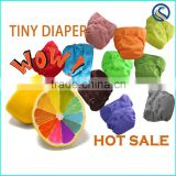 Genuine! HappyFlute 2015 new design tiny aio cloth sleepy baby diaper fit 0-3 months baby