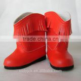 red 18 inch American doll shoes boots fashion doll shoes