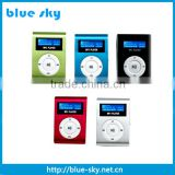 Promotion gift mini metal clip bible mp3 player with LED screen                                                                         Quality Choice