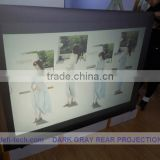 Dark grey color matte white projection screen fabric ,holographic Projection screen for window advertisig!!