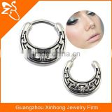 brass pierced nose ring tribal nickel free nose piercing with surgical steel bar