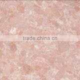 Rose quartz crystal slab polished for counter top decor