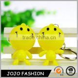 Wholeslae cute plastic keychain happy smile keychain for promotional gift