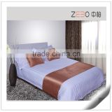 3 Star Hotel Used 40s Staeen Stripe Fabric Wholesale Hotel Single Bedsheet Size