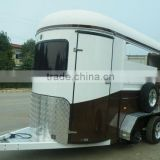 2 horse straight load economic camper teardrop trailer