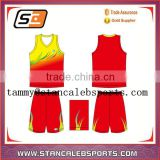 Stan Caleb Latest New Tackle Twill Basketball Uniform Embroidery Basketball Jersey Design red basketball uniforms
