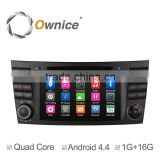 Android 4.4 1G ROM 16G RAM quad core Ownice C300 car DVD audio for Benz E-Class W211 2002-2009 with wifi GPS NAVI DAB