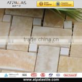 Natural beige jade stone weavy wal tile pattern, backsplash and bathroom mosaic EMC525