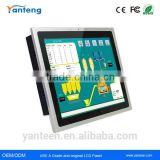 True flat seamless 17inch android industrial panel pc with energy-saving low power consumption