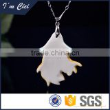 Chinese beautiful girl face ceramic jewelry necklace