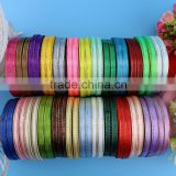 Wholesale Cheap Christmas Woven Satin Ribbon With Gold Edged For Ribbon Flowers Bow Boutique Gift Box Packing