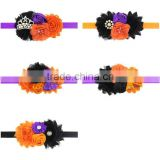 yiwu factory Baby Girl Halloween Headband Flower Headband for Newborn Infants Baby Hair Bow Children Hair Accessories Photo Prop