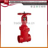 cast steel flange din rising stem gate valve