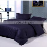 2015 fashion design indian Cotton 3 cm Stripe hotel Bedding Set/Bed Linen/Bed Sheet/Duvet Cover wholesale