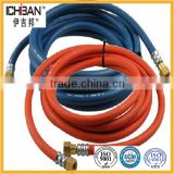 natural rubber fiber braided strengthened SBR / NBR compound Twin line red green welding rubber hoses pipe