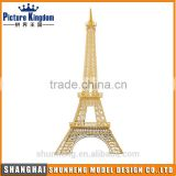Brass material Eiffel Tower DIY metal 3D puzzle/custom 3d building metal puzzle