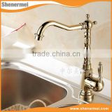 polished chrome modern Antique single lever basin faucet