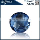 China hot selling products unique round blue synthetic spinel for jewelry