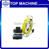 120m sewer drain pan tilt inspection camera with HD dvr control box ,pipe inspection camera