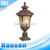 European style Garden lamp & waterproof IP65 outdoor pillar pole light with CE antique new garden lamp