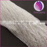 chains, Wholesale 1 mm silver-plated copper necklace chain
