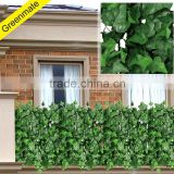 Plastic garden fence with ivy leaf shape