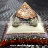 Color Layered Orgone Pyramid With Copper Flower Of Life Metal Symbol : Wholesale orgonite pyramid orgone pyramid