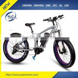 26'' 8FUN 350W Center 2G Mid drive Motor Electric Fat tire Bicycle with Suspension Fork