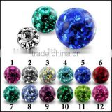 fashion preciosa Crystal Epoxy stone Ball
