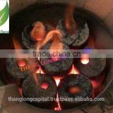 High calorific value no chemical high quality Coconut shell charcoal briquettes for Barbecue