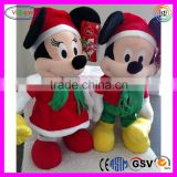 A861 Cartoon Mickey Minnie Singing Dancing Christmas Gifts Stuffed Plush Singing and Dancing Doll